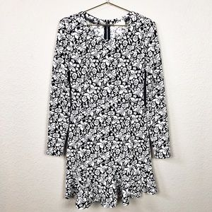 Altar'd State Black and White Floral Print Dress